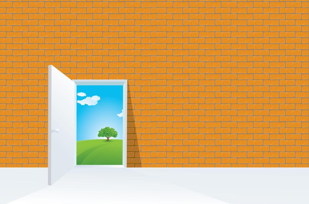 The Door.. Vector Abstract.