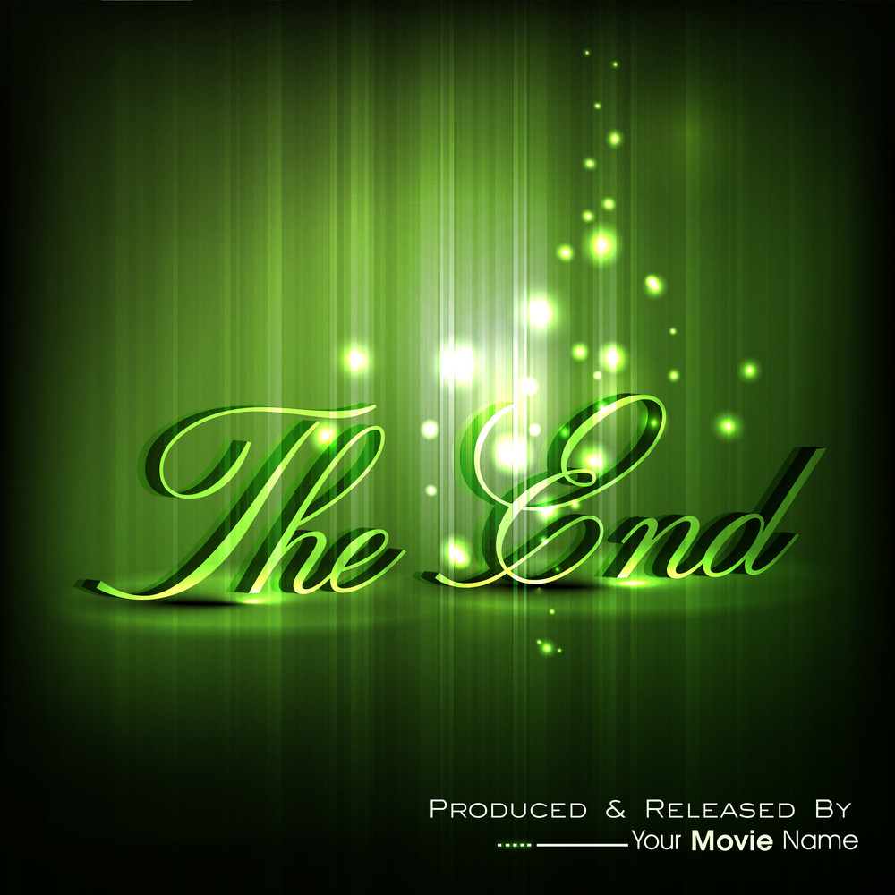 The End Moving Ending Screen Royalty Free Stock Image