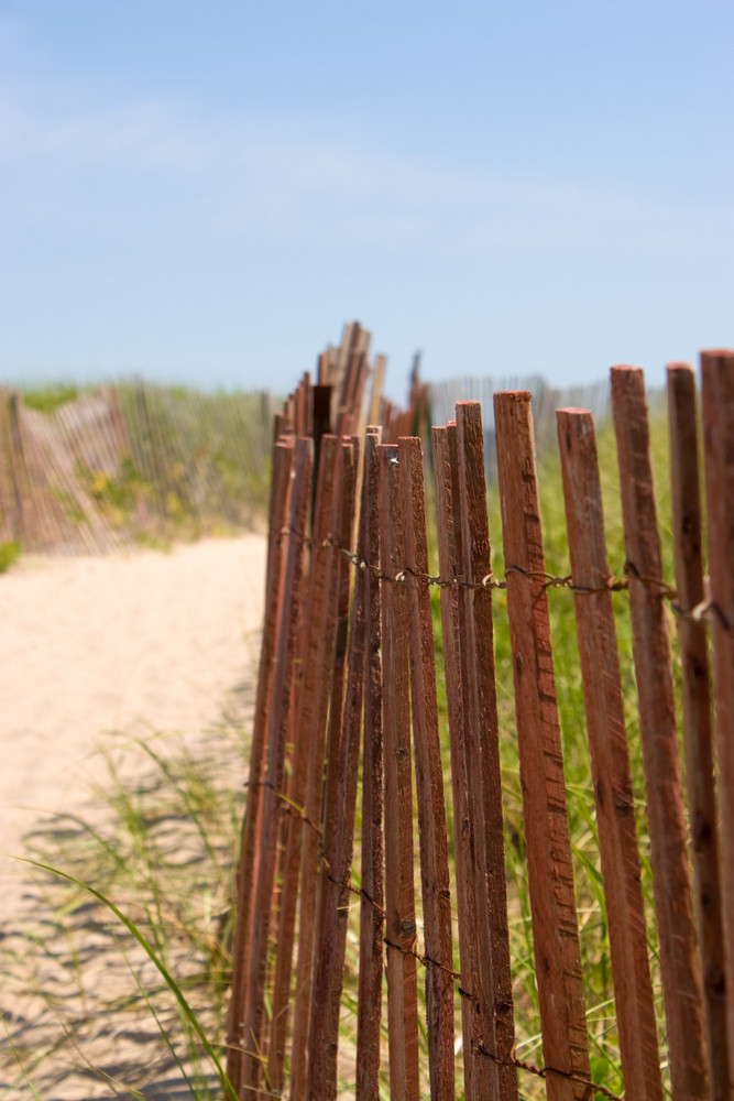 The entrance to the beach in beautiful Watch Hill Rhode Island.