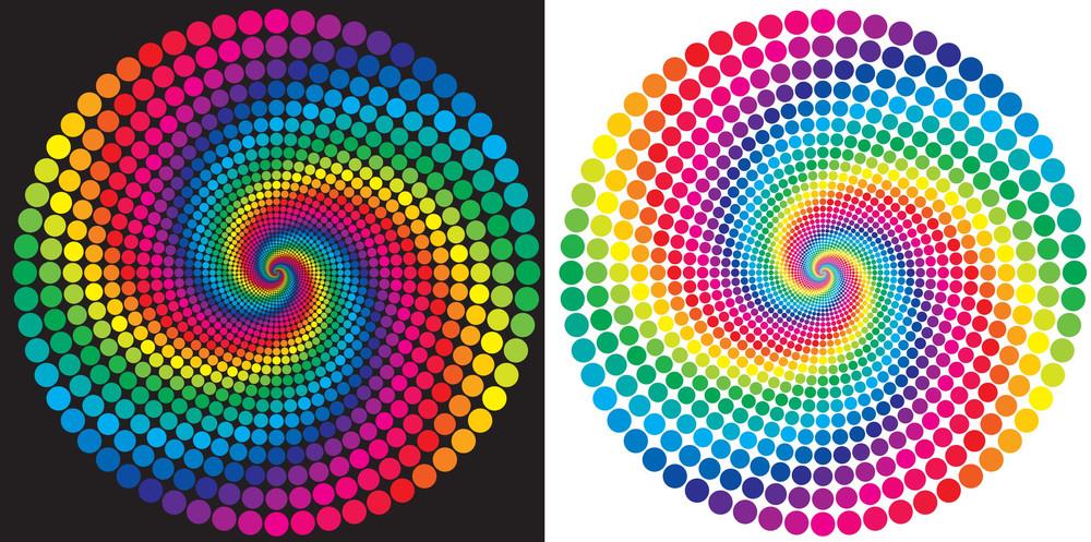 The Rainbow. Vector.