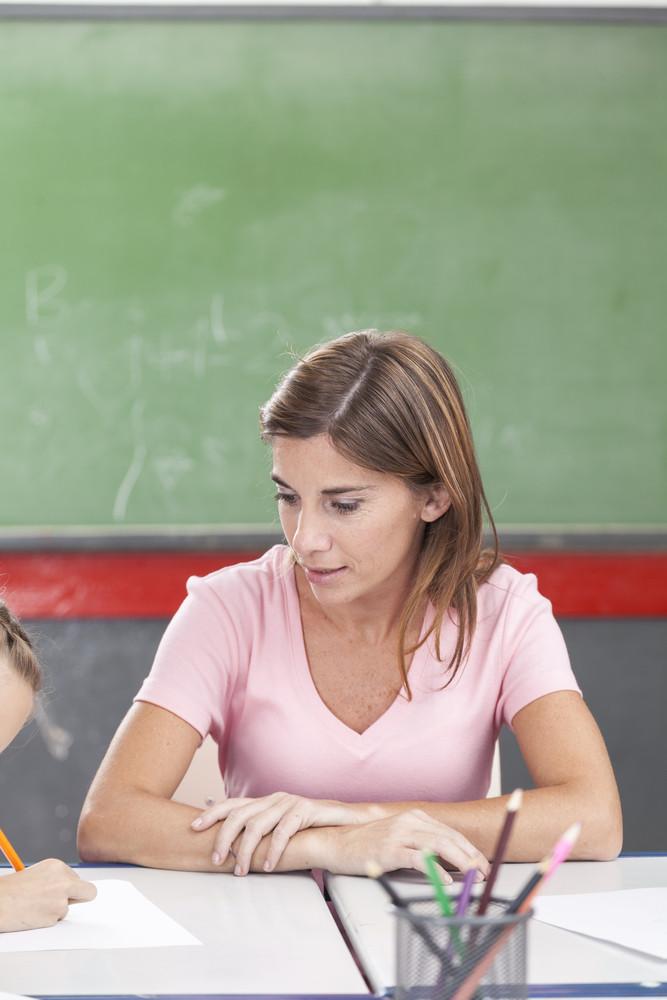 The teacher teaching