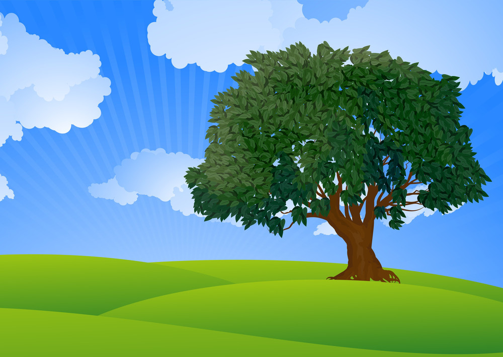 The Tree. Vector.