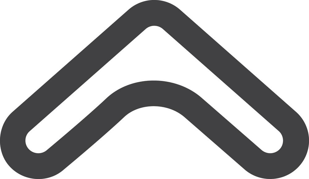Thin Up Arrow