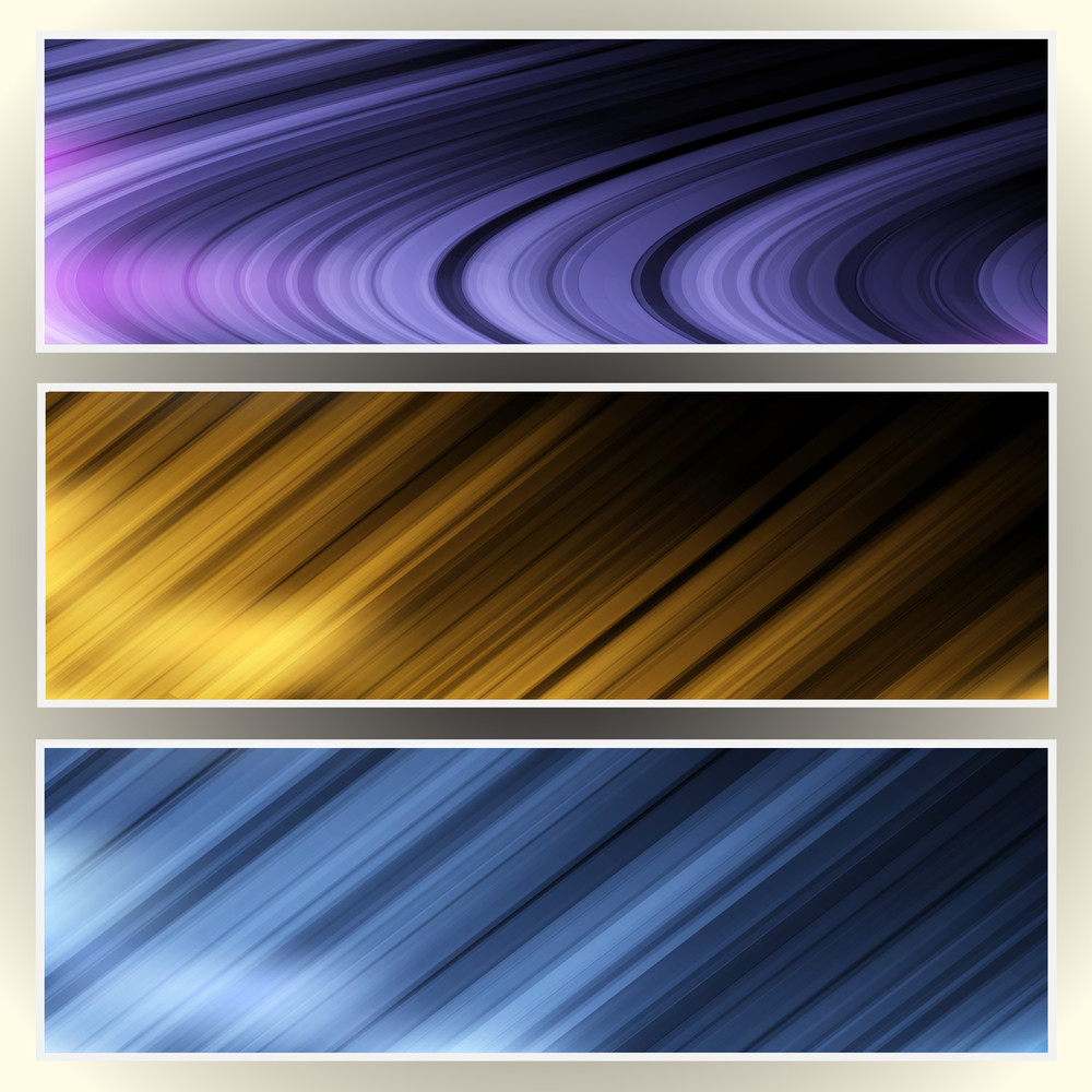 Three Abstract Web Banners