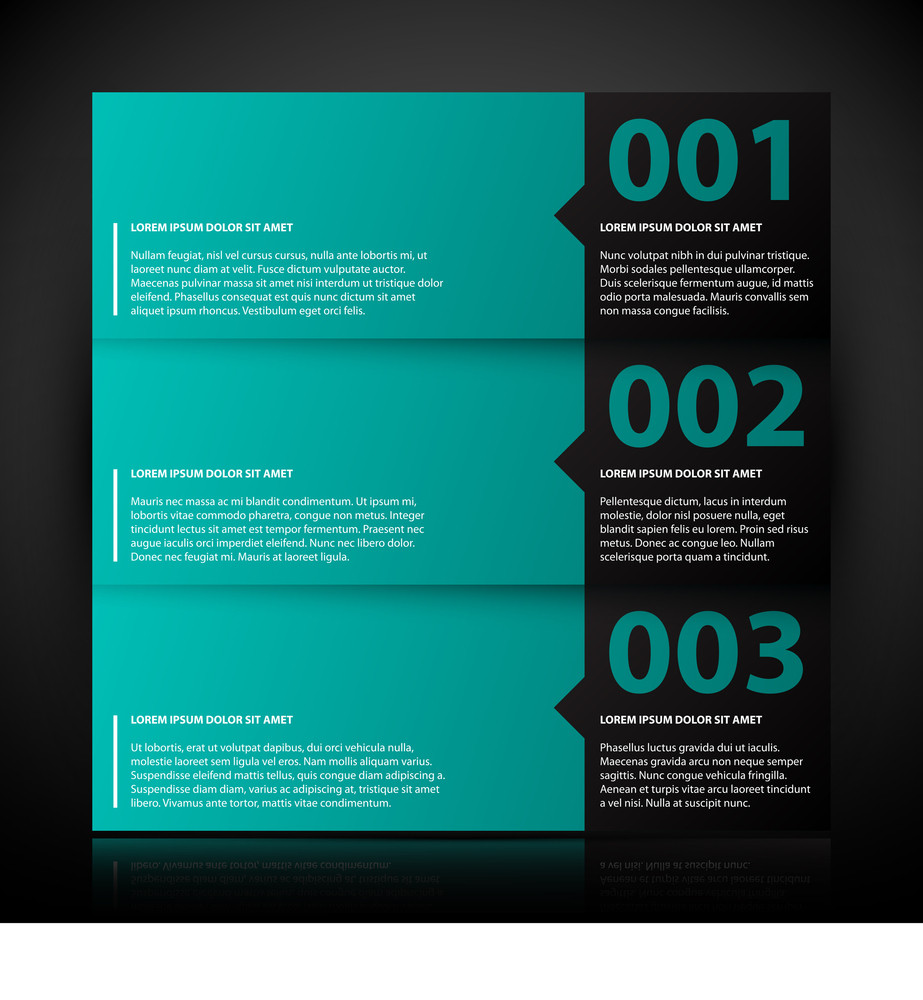 Three Banners With Text And Numbers. Useful For Tutorials Or Advertising.