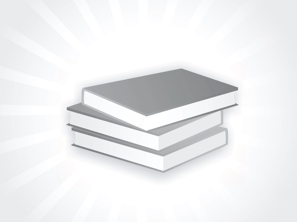 Three Books On Isolated Background