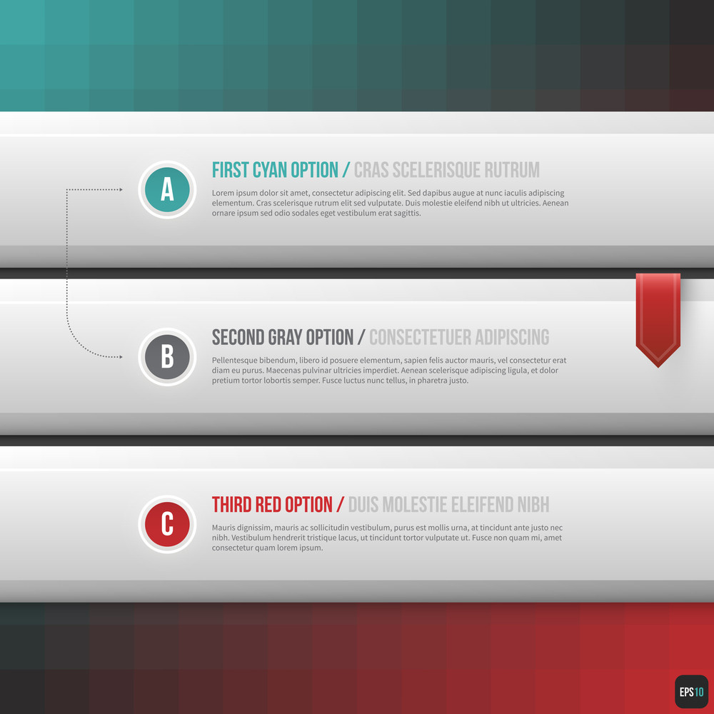 Three Horizontal Options. Useful For Web Design. Eps10.
