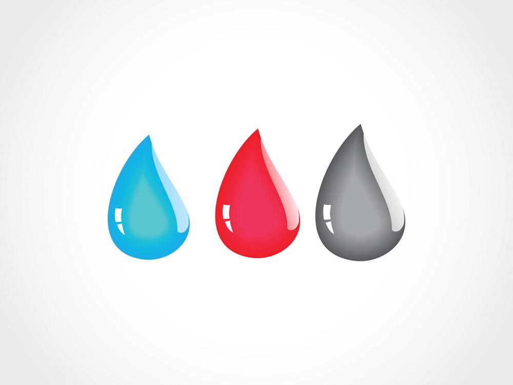 Three Liquids Vector Set Isolated On White
