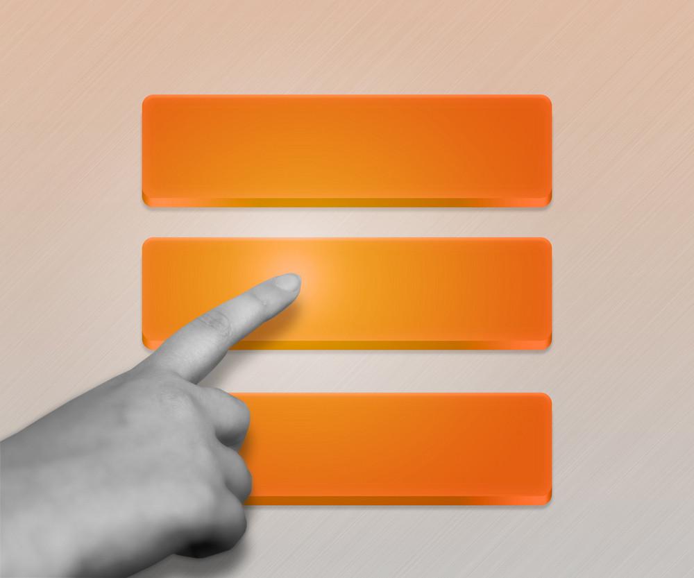 Three Orange Buttons