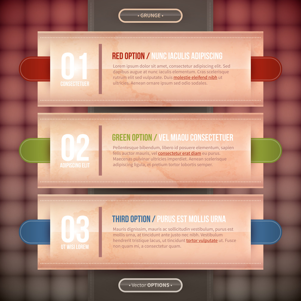 Three Rectangle Banners/options For Advertising Or Web Design. Eps10.