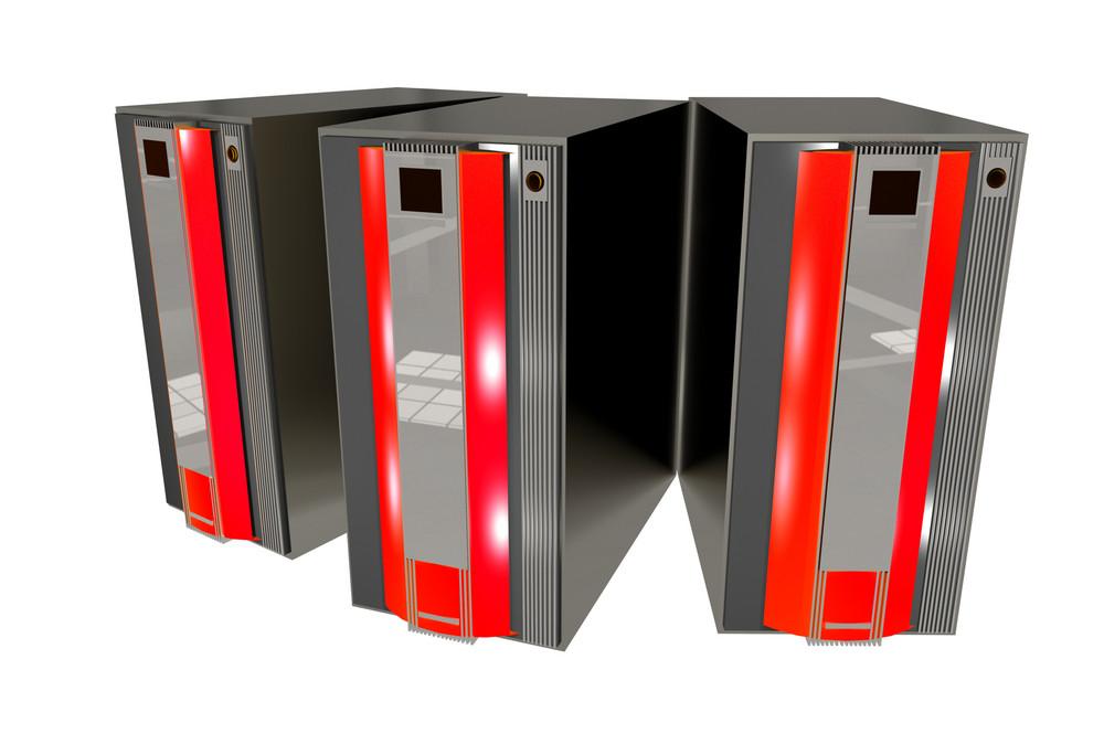 Three Red Servers