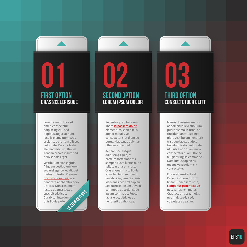 Three Vertical Banners. Useful For Web Design. Eps10.