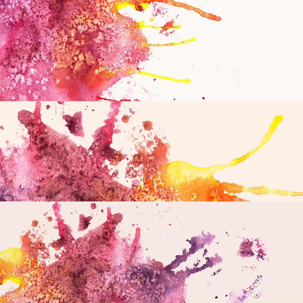 Three Watercolor Design