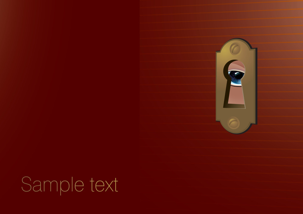 Through Keyhole. Vector Template.