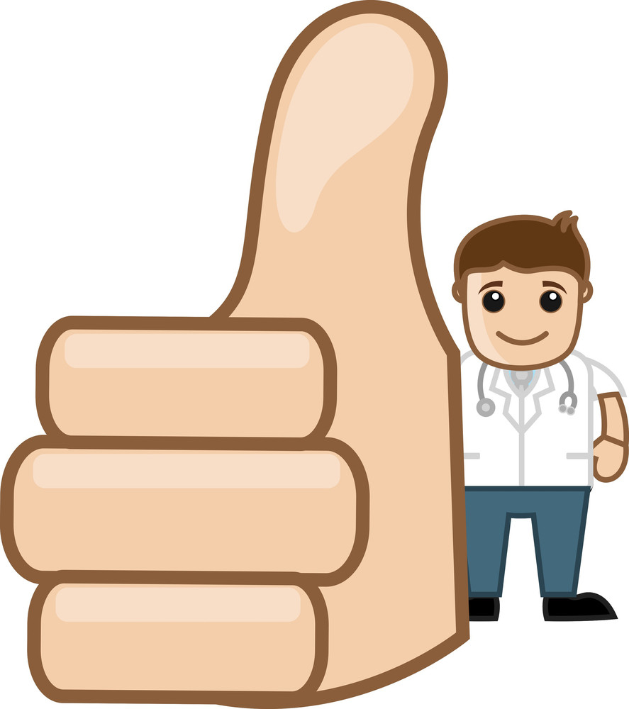 Thumbs Up - Doctor - Office Cartoon Characters