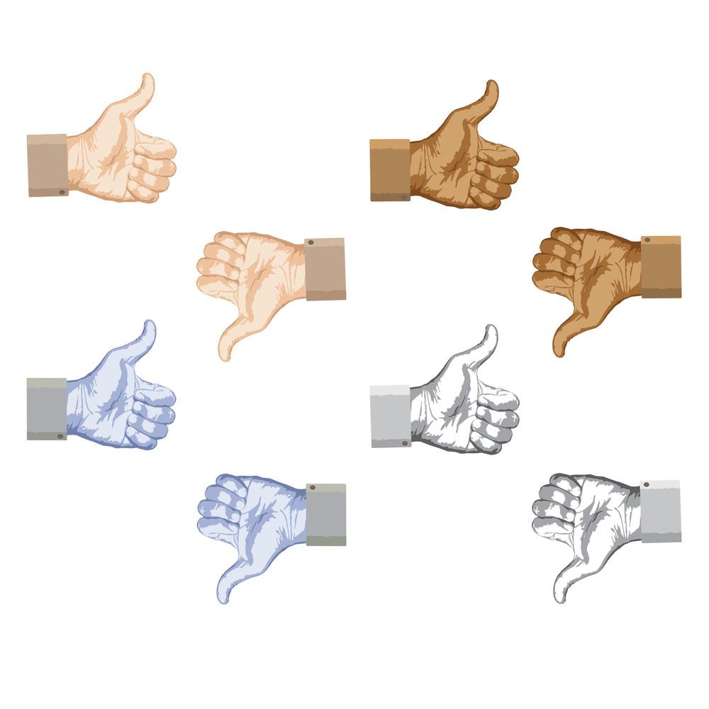Thumbs-up-thumbs-down