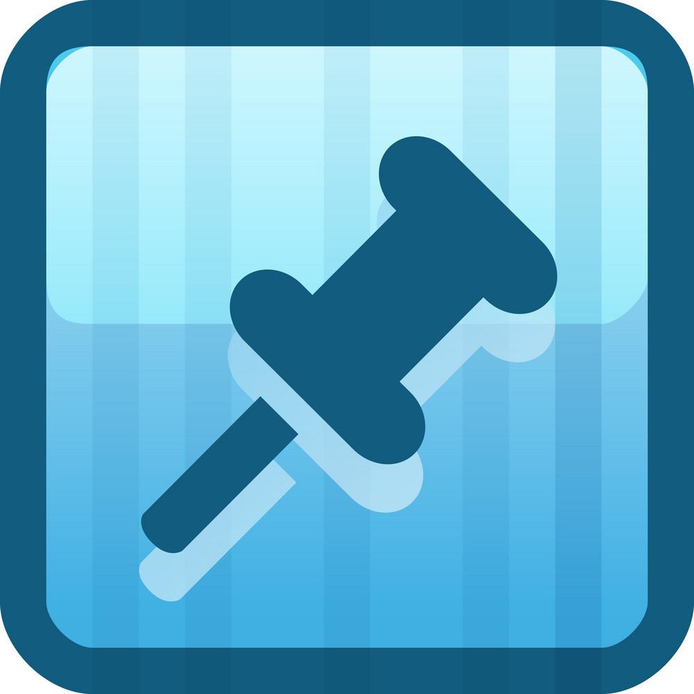 Thumbtack Blue Tiny App Icon