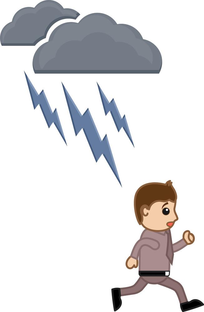 Thunder Lightning - Cartoon Vector Illusatrtion