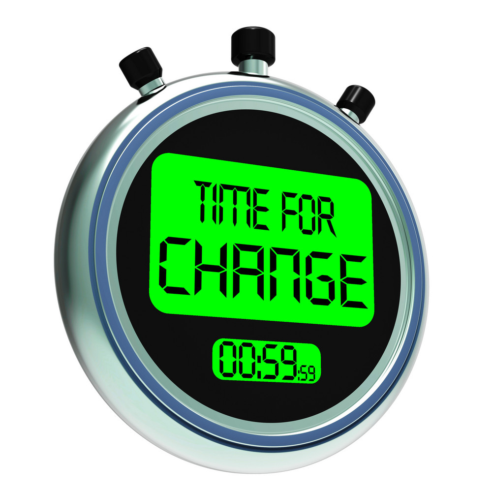 Time For Change Showing Different Strategy Or Vary