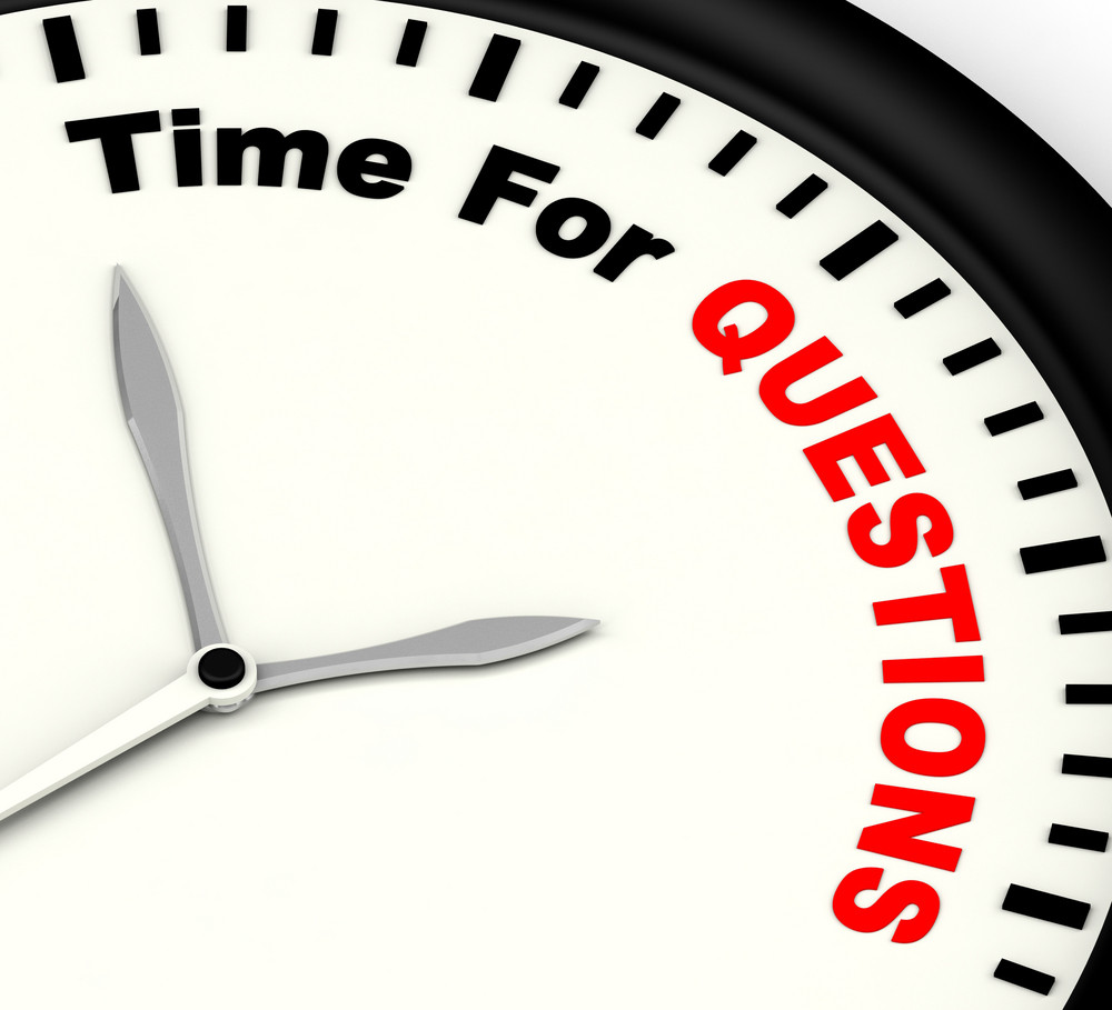 Time For Questions Message Shows Answers Needed