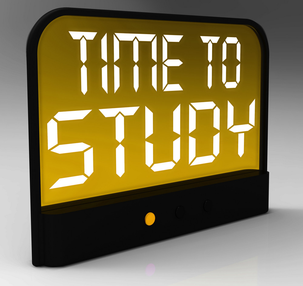 Time to study message showis education and studying royalty free time to study message showis education and studying altavistaventures Choice Image
