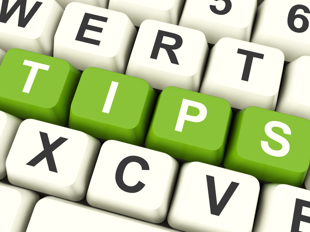 Tips Computer Keys Showing Hints And Guidance