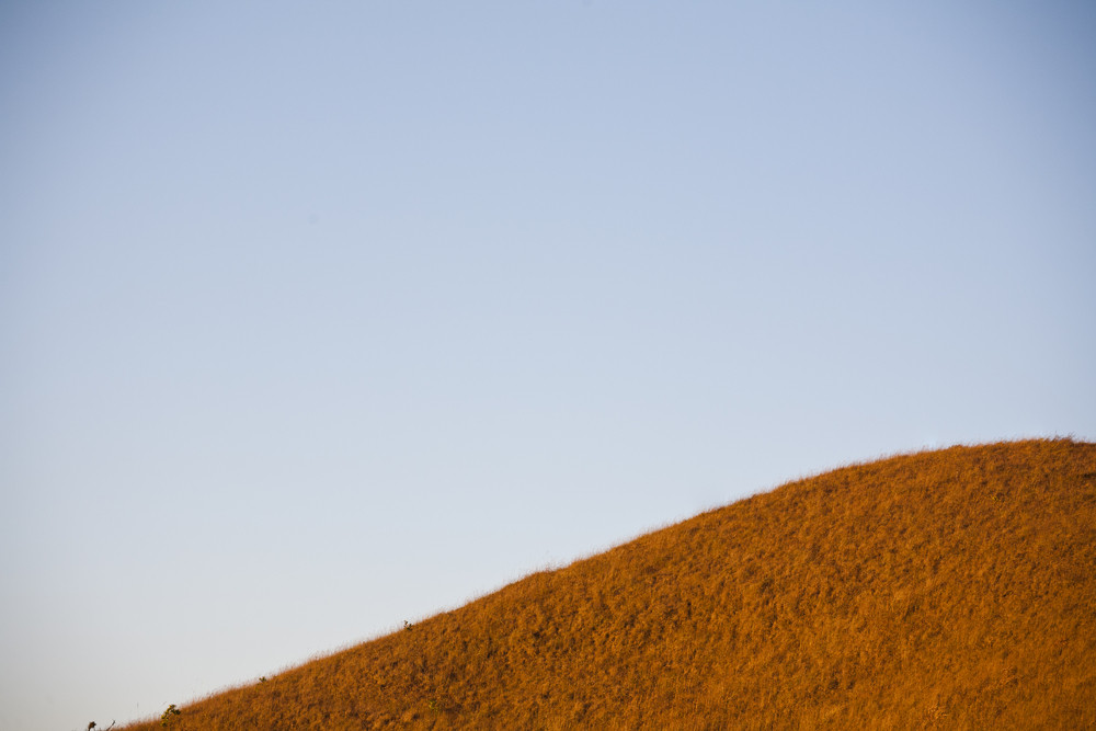 Top hill Landscape with dry fields in the Morning