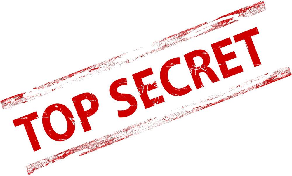 Top Secret Grunge Stamp