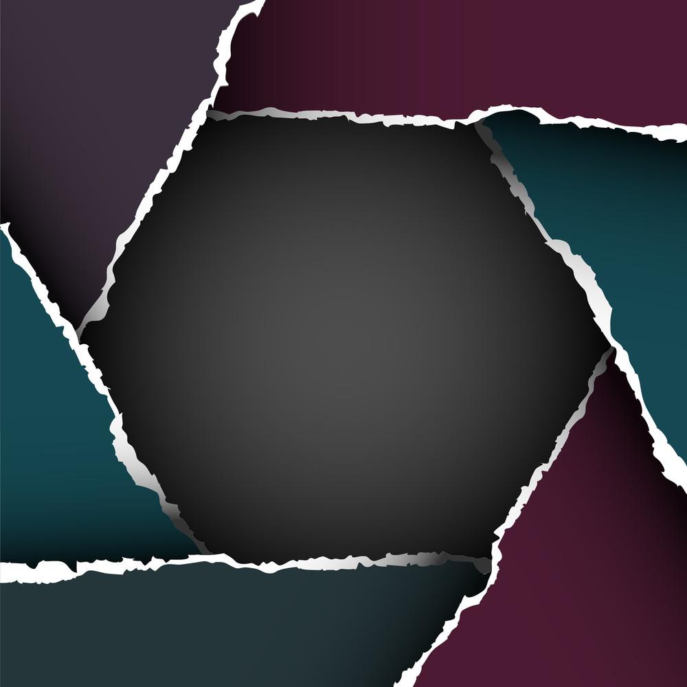 Torn Paper  In Form Hexagon