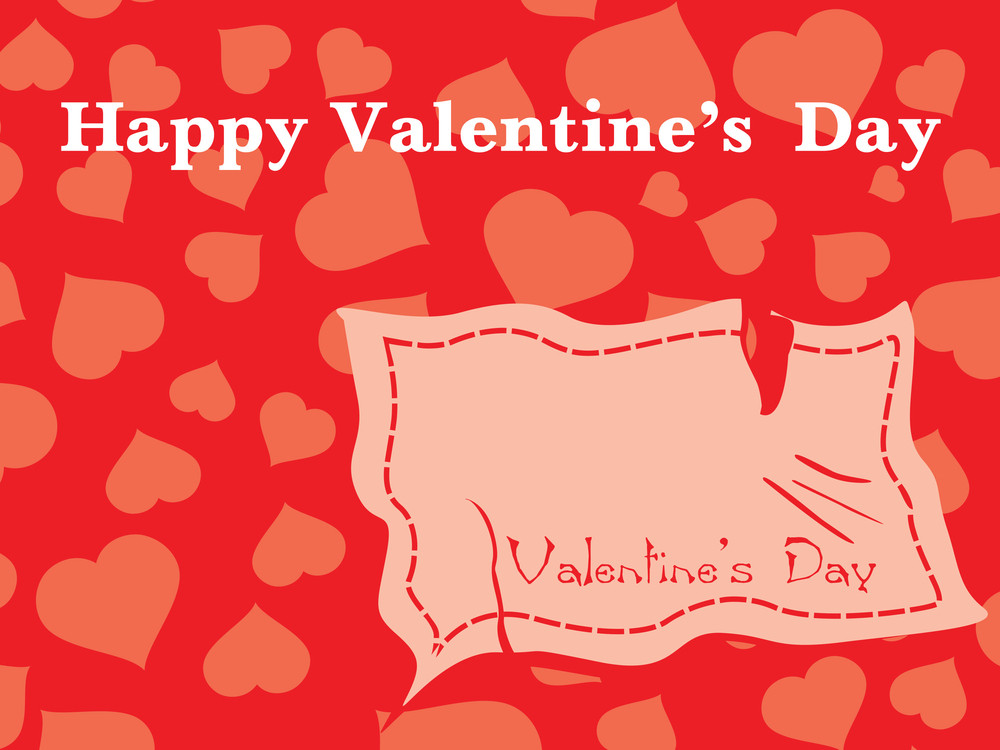 Torn Ripped Valentine Paper Vector