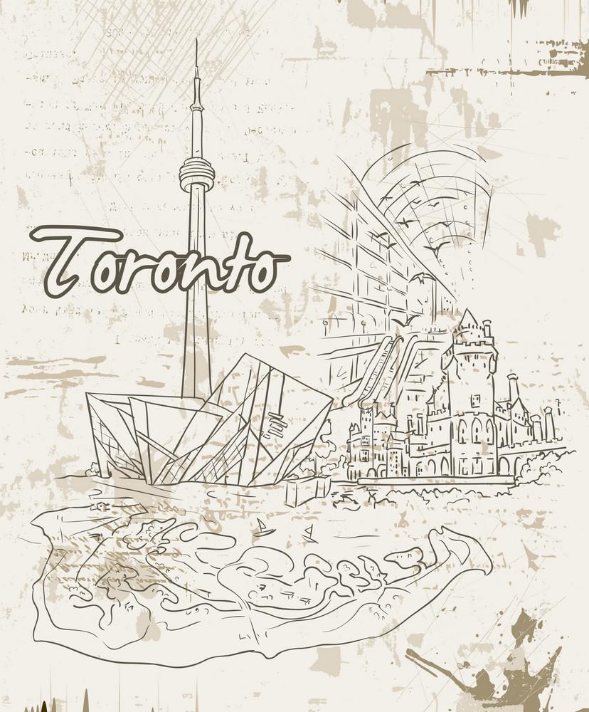 Toronto Doodles Vector Illustration