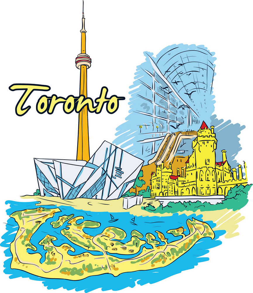 Toronto Vector Doodle
