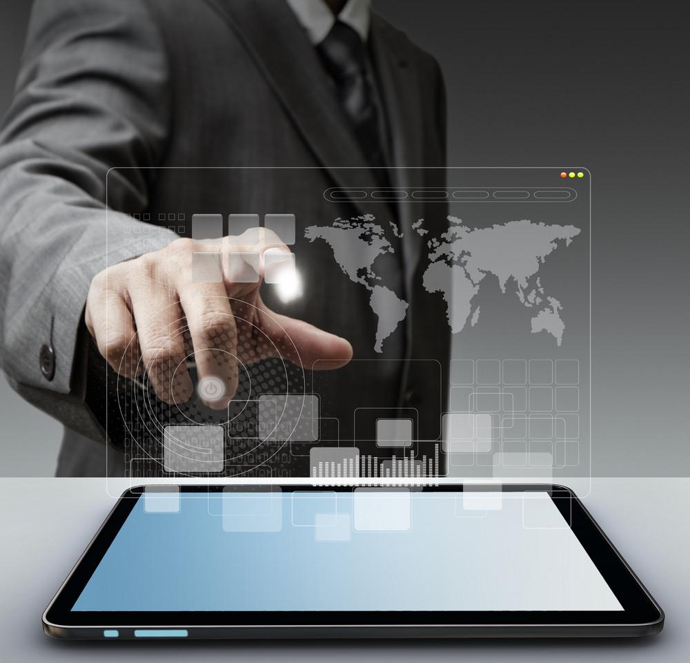 Touch Virtual Screen Computer Interface As Concep