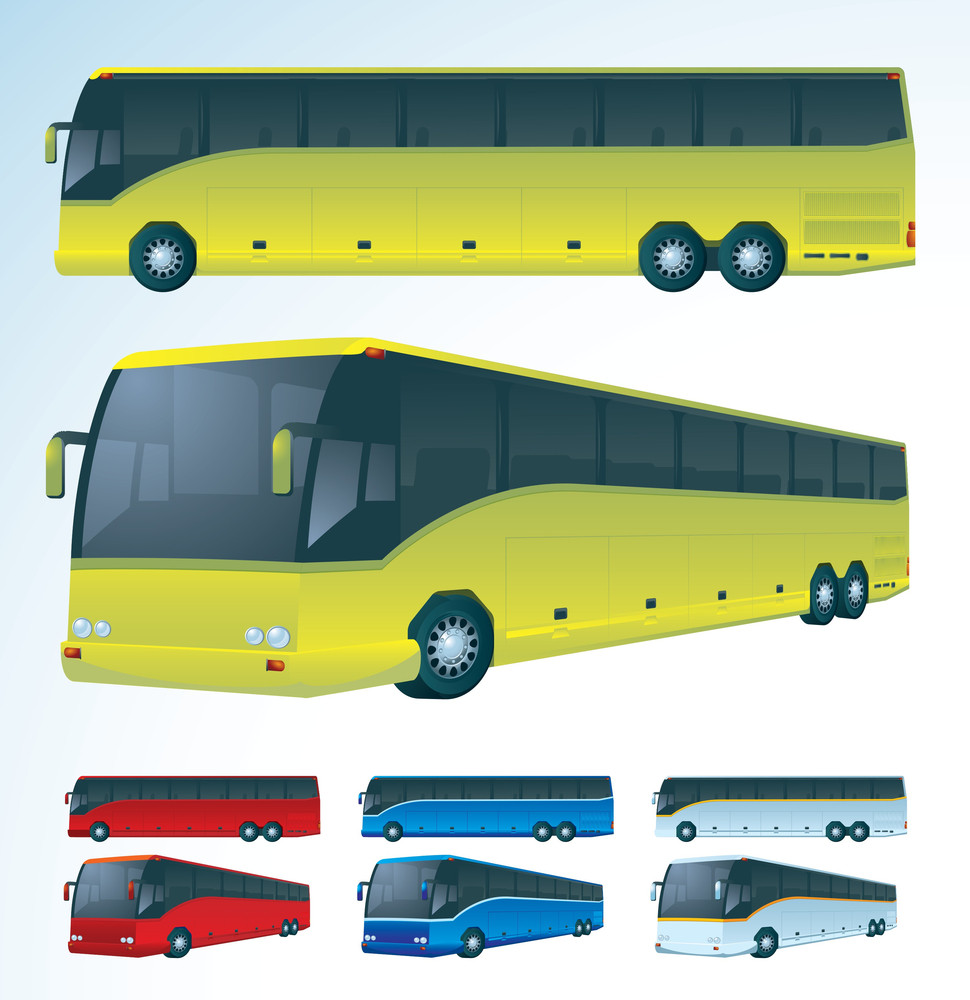 Tourist Bus. Vector.