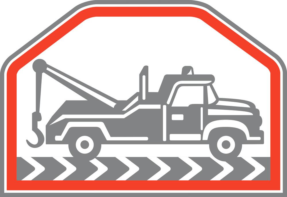 Tow Wrecker Truck Side Retro