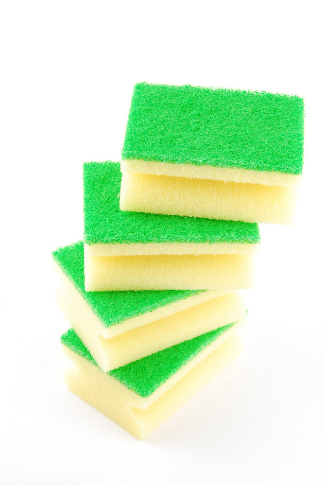 Tower Of Kitchen Sponges (staircase)