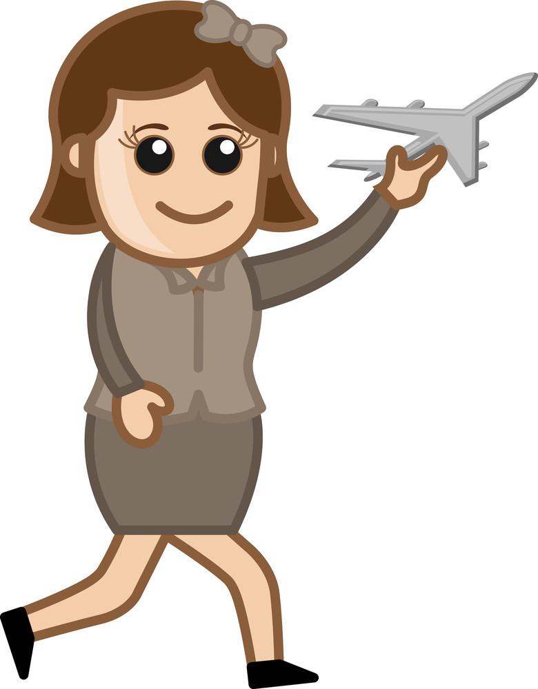 Toy Plane Vector Cartoon