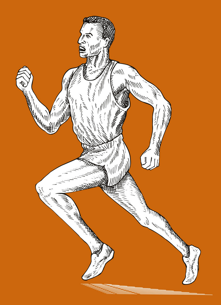 Track And Field Athlete Running