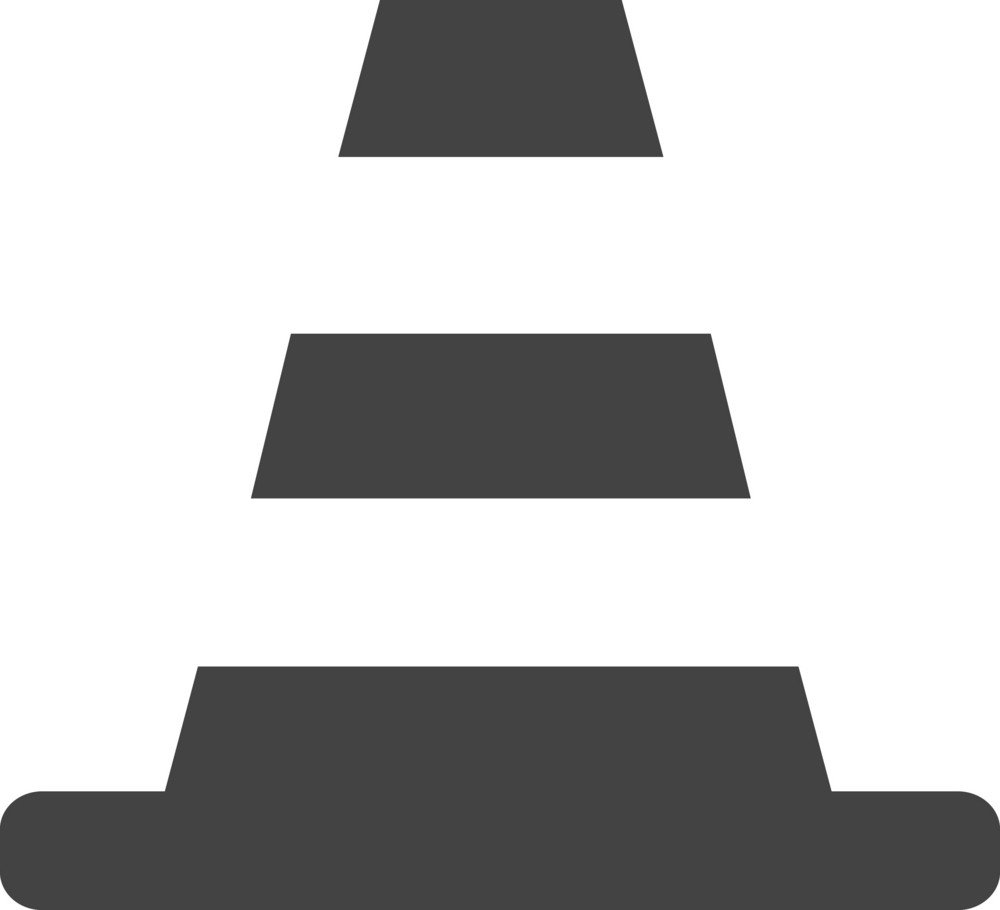 Traffic Cone Glyph Icon
