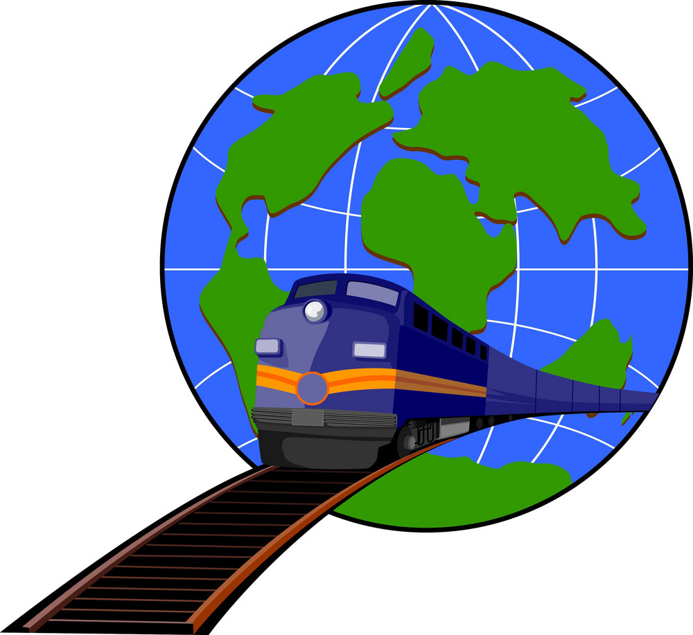 Train And Globe