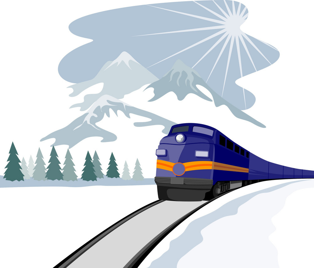 Train And Landscape