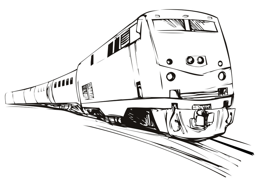 Line Art Train : Train sketch style royalty free stock image storyblocks