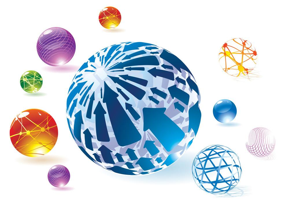 Transparent Globes. Vector.