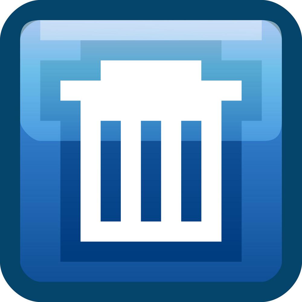 Trash Bin Blue Tiny App Icon
