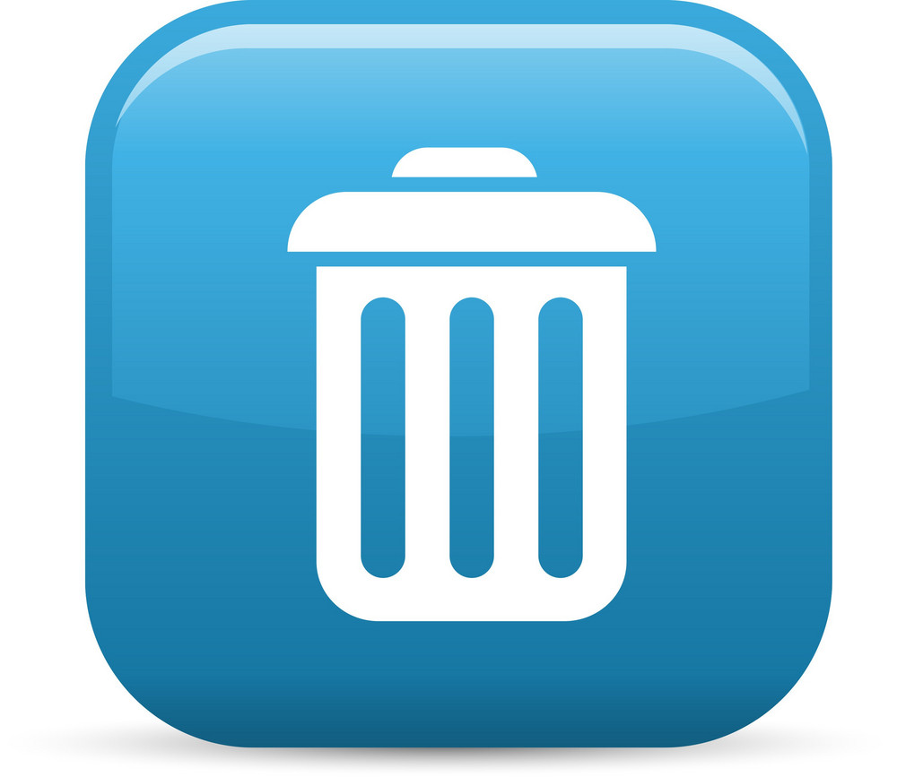 Trash Elements Glossy Icon