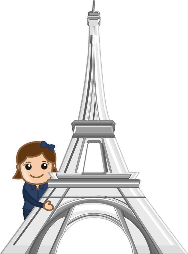 Travel Paris - Concept Cartoon