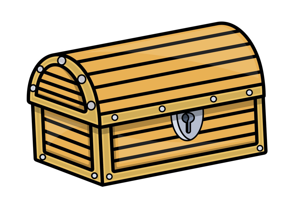 Treasure Box - Vector Cartoon Illustration