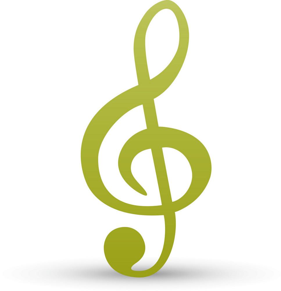 Treble Clef Lite Music Icons