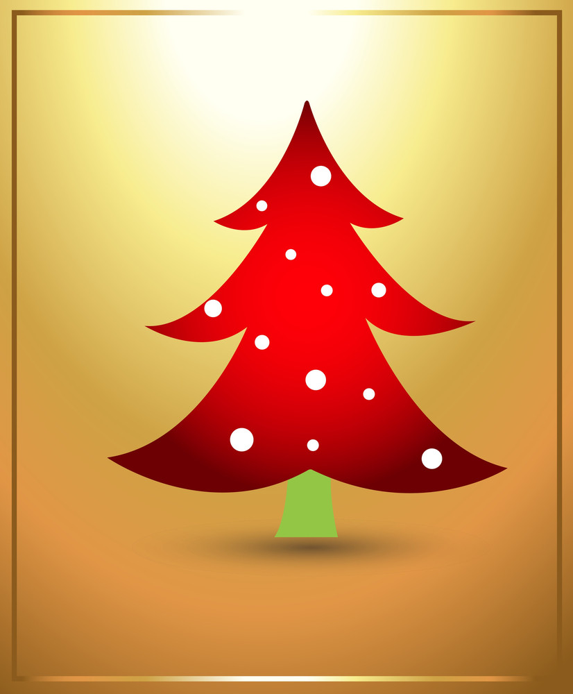 Tree Christmas Vector Illustration