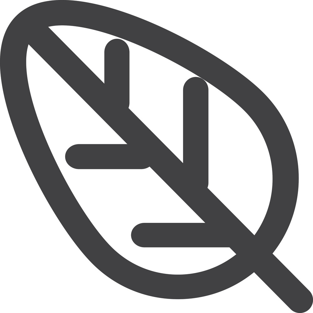 Tree Leaf Stroke Icon
